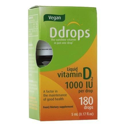 Ddrops Vegan Vitamin D2 1000IU - 0.17 oz.