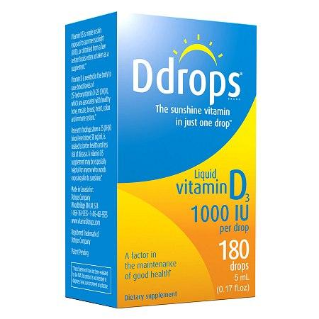 Ddrops Vitamin D3 1000 IU - 0.17 oz.