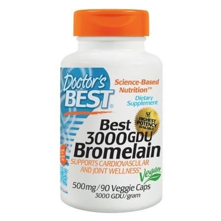 Doctor's Best Best 3000 GDU Bromelain, 500mg, Veggie Caps - 90 ea