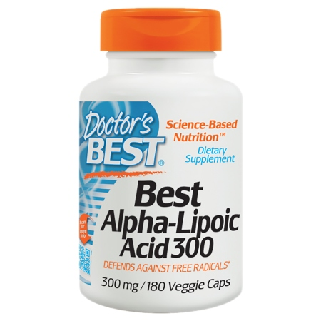 Doctor's Best Best Alpha-Lipoic Acid, 300mg, Veggie Caps - 180 ea