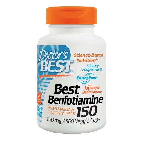 Doctor's Best Best Benfotiamine, 150mg, Veggie Caps - 360 ea