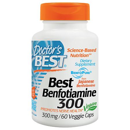 Doctor's Best Best Benfotiamine, 300mg, Veggie Caps - 60 ea