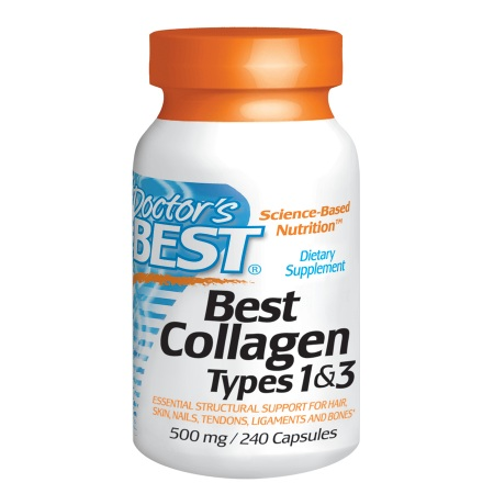 Doctor's Best Best Collagen Types 1 & 3, 500mg, Capsules - 240 ea