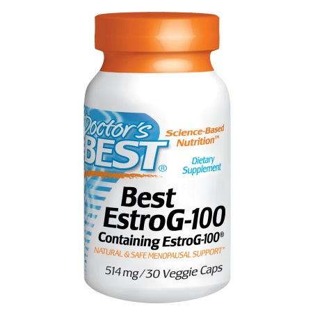 Doctor's Best Best EstroG-100, Menopausal Support, 514mg, Veggie Caps - 30 ea