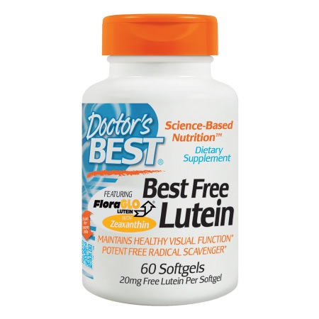 Doctor's Best Best Free Lutein Featuring FloraGlo, 20mg, Softgels - 60 ea