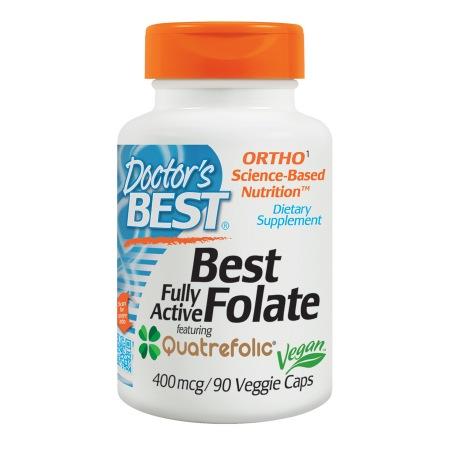 Doctor's Best Best Fully Active Folate, 400mcg, Veggie Caps - 90 ea
