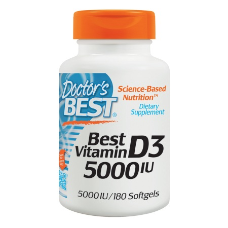 Doctor's Best Best Vitamin D3, 5000 IU, Softgels - 180 ea