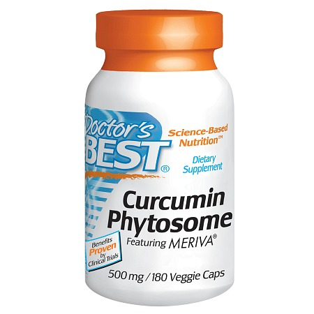 Doctor's Best Curcumin Phytosome 500 mg, Veggie Caps - 180 ea