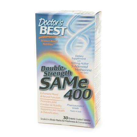 Doctor's Best Double-Strength SAMe 400, Enteric Coated Tablets - 30 ea