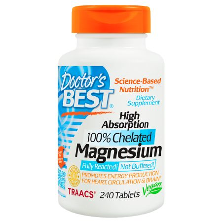 Doctor's Best High Absorption 100% Chelated Magnesium, Tablets - 240 ea