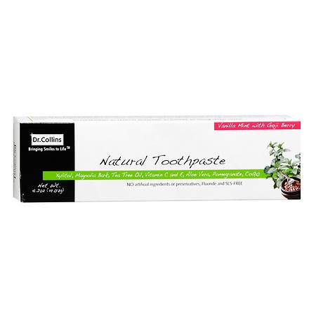 Dr. Collins Natural Toothpaste Vanilla Mint with Goji Berry - 4.02 oz.