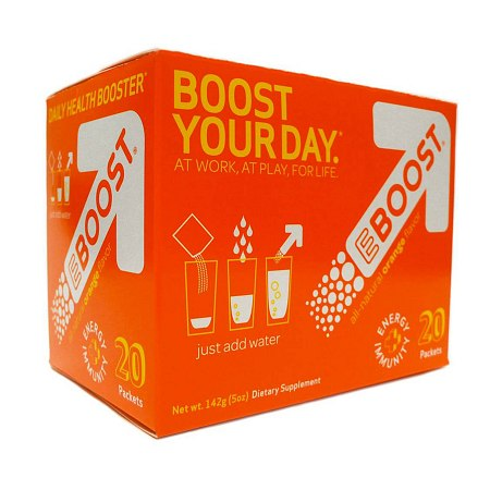 EBOOST Daily Health Booster Effervescent Powder Packets Orange - 0.25 oz.