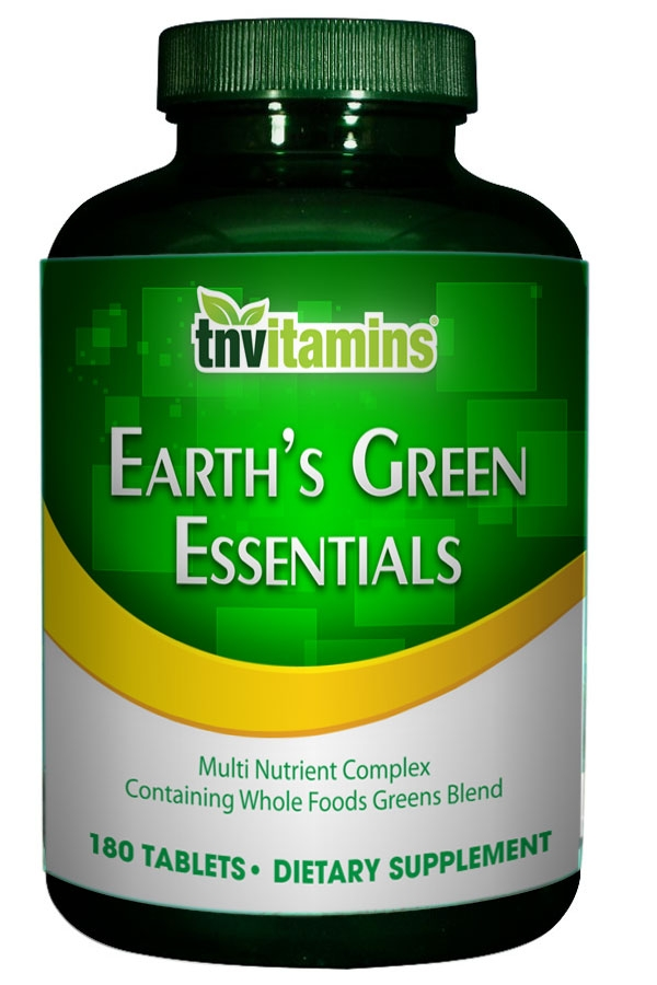 Earth's Green Essentials Whole Food Multivitamin - Iron Free