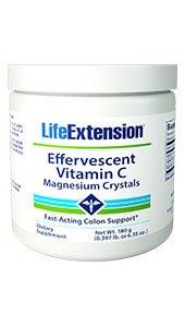 Effervescent Vitamin C - Magnesium Crystals, Net Wt. 180 g (0.397 lb. or 6.35 oz.)