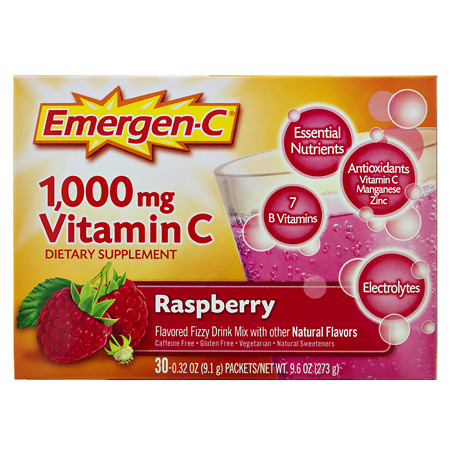 Emergen-C 1000 mg Vitamin C Dietary Supplement Fizzy Drink Mix - 30 ea