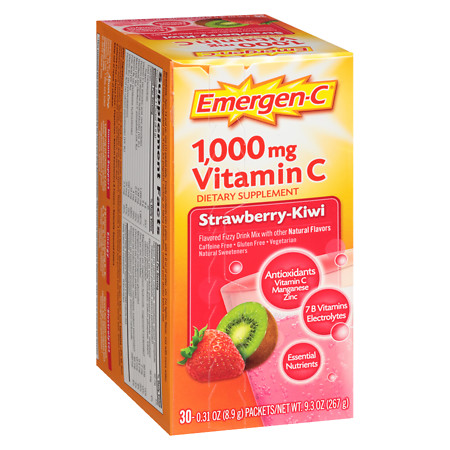 Emergen-C 1000 mg Vitamin C Strawberry-Kiwi - 30 ea