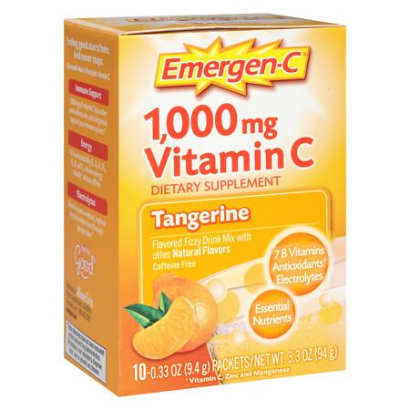 Emergen-C 1000 mg Vitamin C Travel Box Tangerine - 10 ea