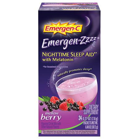 Emergen-C Emergen-zzzz Nighttime Sleep Aid with Melatonin Mellow Berry - 24 ea