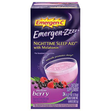 Emergen-C Emergen-zzzz Nighttime Sleep Aid with Melatonin Mellow Berry - 24 ea