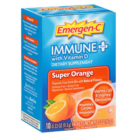 Emergen-C Immune+ Orange - 10 ea