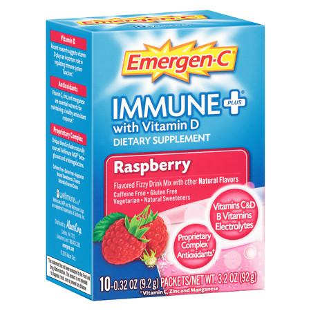 Emergen-C Immune+ Raspberry - 10 ea