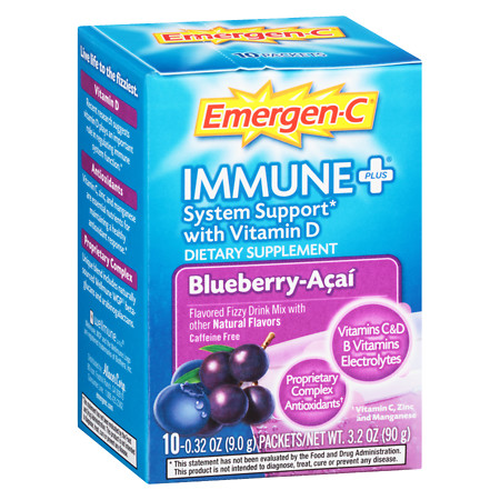 Emergen-C Immune+ System Support Dietary Supplement Powder Blueberry-Acai - 0.31 oz.