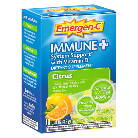 Emergen-C Immune+ Travel Box Citrus - 10 ea