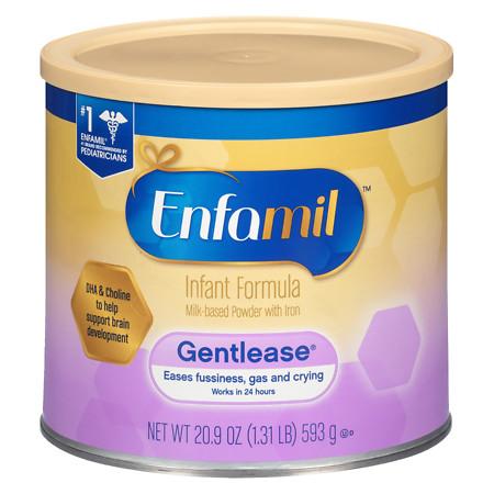Enfamil Gentlease Infant Formula Powder Makes 151 Ounces - 21 oz.