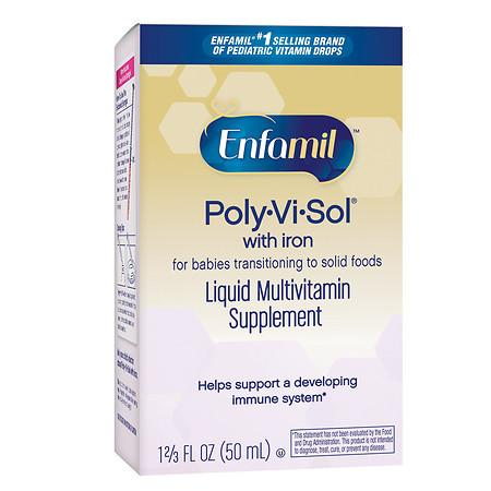 Enfamil Poly-Vi-Sol with Iron Multivitamin Supplement Drops - 1.66 fl oz