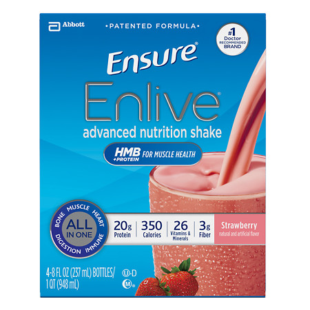 Ensure Enlive Advanced Nutrition Shake Strawberry - 8 oz.