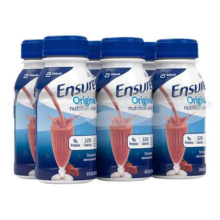 Ensure Original Nutrition Shake Strawberry - 8 oz.