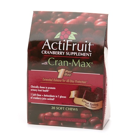 Enzymatic Therapy ActiFruit Cranberry Supplement with Cran-Max Soft Chews - 20 ea