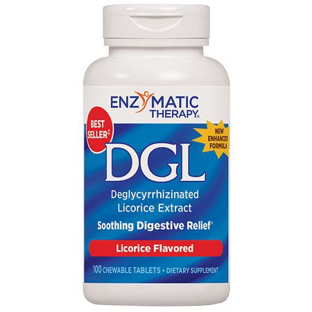 Enzymatic Therapy DGL Deglycyrrhizinated Licorice, Tablets - 100 ea