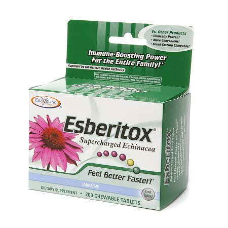 Enzymatic Therapy Esberitox Supercharged Echinacea, Chewable Tablets - 200 ea