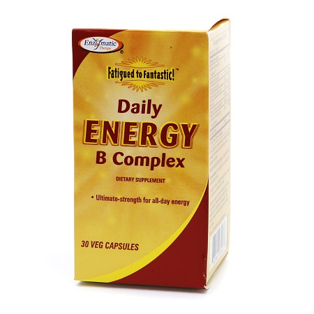 Enzymatic Therapy Fatigued to Fantastic! Daily Energy B Complex, Vegetarian Capsules - 30 ea