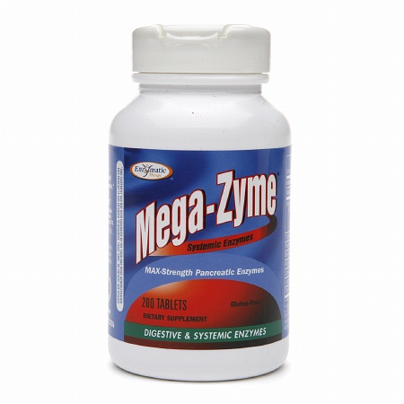 Enzymatic Therapy Mega-Zyme Systemic Enzymes Tablets - 200 ea