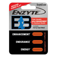 Enzyte E3 Triple Intensity Male Enhance, Endurance & Energy with Breakthrough L-Citrulline - 1 Month Supply