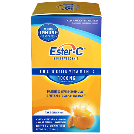 Ester C 1000 mg Effervescent Packets - 21 ea