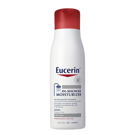 Eucerin In-Shower Moisturizer Body Lotion for Dry Skin Fragrance Free - 13.5 oz.