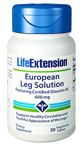 European Leg Solution featuring Certified Diosmin 95, 600 mg, 30 vegetarian tablets