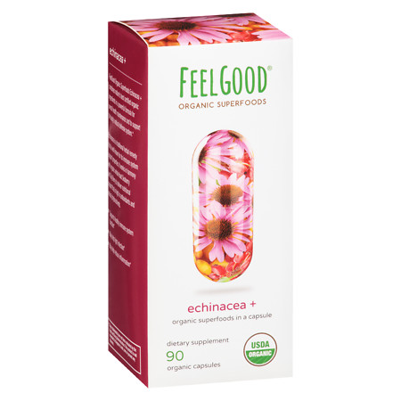 Feel Good Superfoods Organic Echinacea - 90 ea