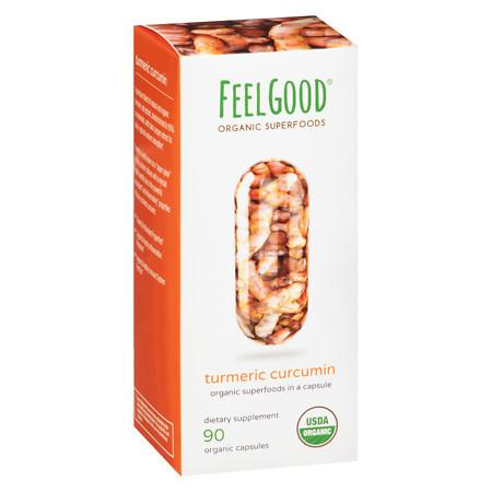 Feel Good Superfoods Organic Turmeric Curcumin - 90 ea