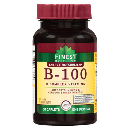 Finest Nutrition B 100 Caplets Time Released - 50 ea