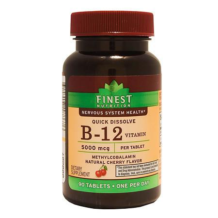 Finest Nutrition B12 5000 mcg Tablets Natural Cherry - 90 ea