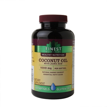 Finest Nutrition Coconut Oil, Softgels - 120 ea