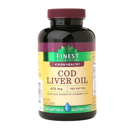 Finest Nutrition Cod Liver Oil Softgels - 300 ea