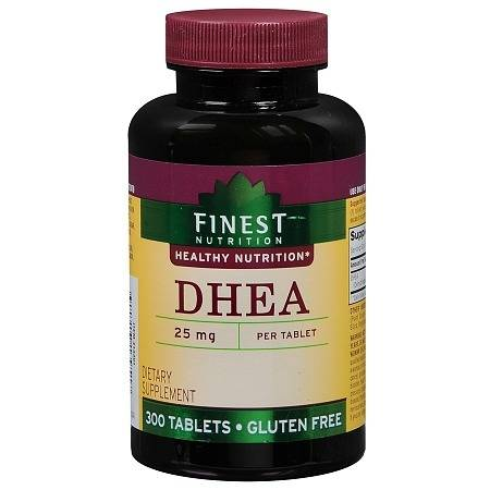 Finest Nutrition DHEA 25mg, Tablets - 300 ea
