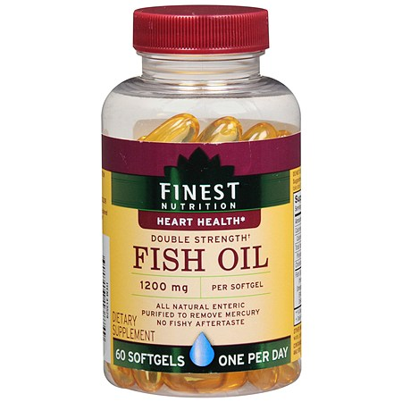 Finest Nutrition Fish Oil 1200 mg Dietary Supplement Softgels - 60 ea