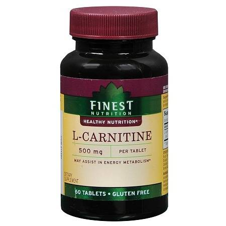 Finest Nutrition L-Carnitine 500 mg Dietary Supplement Tablets - 60 ea