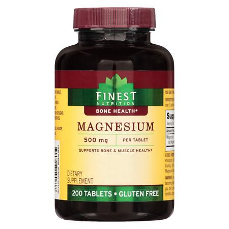 Finest Nutrition Magnesium 500 mg Tablets - 200 ea